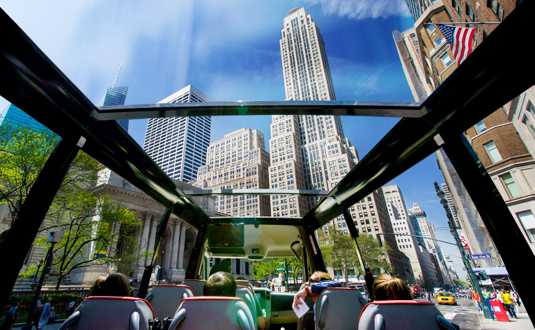 New York Main Attractions Tour with Open Top Sprinter